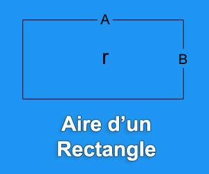 calculer l aire d un rectangle formule et application. Black Bedroom Furniture Sets. Home Design Ideas