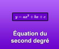 Équation du second degré
