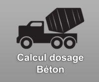 Calcul dosage Beton