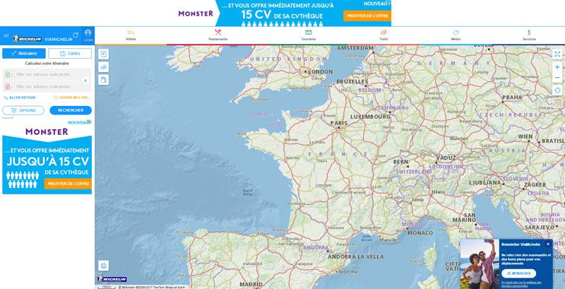 Calcul itinéraire via michelin (www.viamichelin.fr)