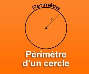 calculer le p rim tre d 39 un cercle avec son rayon. Black Bedroom Furniture Sets. Home Design Ideas